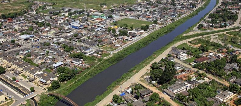 Drenagem sustentável – exemplo na Baixada Fluminense